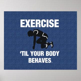 De HOOGSTE Oefening Til Uw Lichaam gedraagt zich Poster