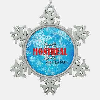 De HOOGSTE Pret van de Winter van Montreal Tin Sneeuwvlok Ornament