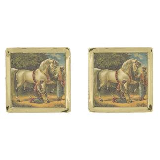 De HOOGSTE Royalty van het Paard Vergulde Manchetknopen