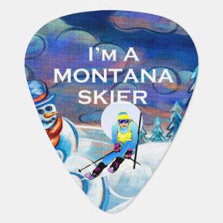 De HOOGSTE Skiër van Montana Gitaar Plectrums 0