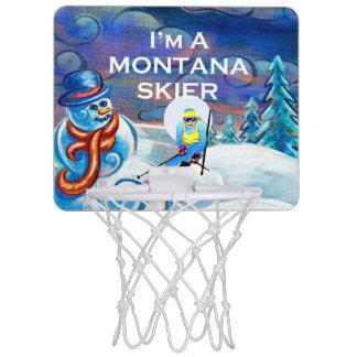 De HOOGSTE Skiër van Montana Mini Basketbalring