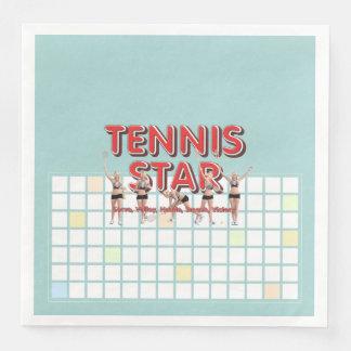 De HOOGSTE Ster van het Tennis Papieren Servetten