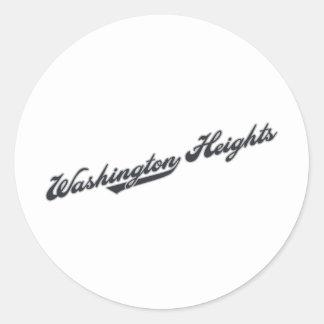 De Hoogten van Washington Ronde Sticker