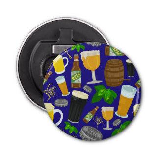 De Hop van de Fles van het Glas van het bier en Button Flesopener