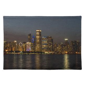 De Horizon Chicago Pano van de nacht Placemat