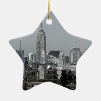 De Horizon en Brooklyn van New York Keramisch Ster Ornament
