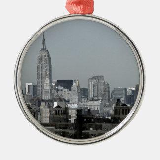 De Horizon en Brooklyn van New York Zilverkleurig Rond Ornament