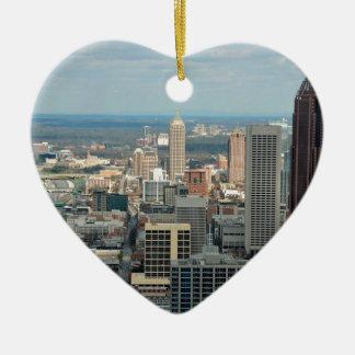 De Horizon van Atlanta Keramisch Hart Ornament