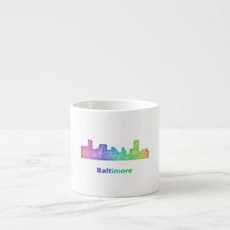 De horizon van Baltimore van de regenboog Espresso Kop