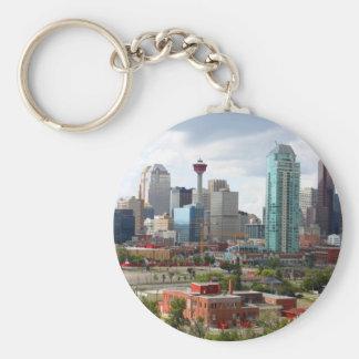 De horizon van Calgary met gebouwen en toren Sleutelhanger