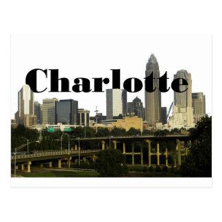 De Horizon van Charlotte NC met Charlotte in de Briefkaart
