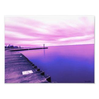 De Horizon van Chicago Foto Afdruk