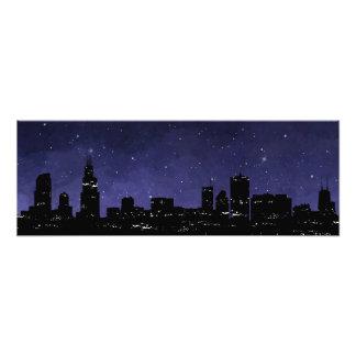 De Horizon van Chicago Foto Afdrukken