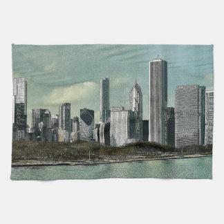 De Horizon van Chicago Handdoek
