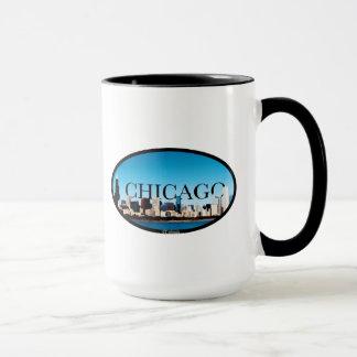 De Horizon van Chicago, Illinois met Dallas in de Mok