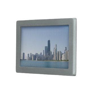 De Horizon van Chicago in Diepere Blauw Gespen