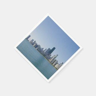 De horizon van Chicago Wegwerp Servet