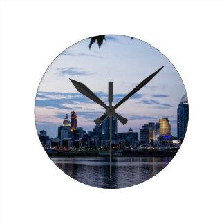 De Horizon van Cincinnati Ronde Klok Medium