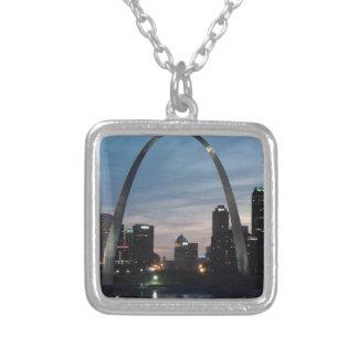 De Horizon van de Boog van St.Louis Zilver Vergulden Ketting