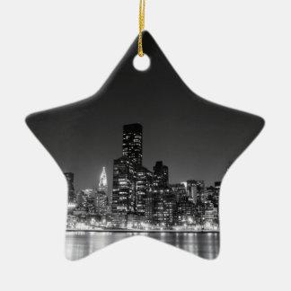 De Horizon van de Nacht van New York Keramisch Ster Ornament