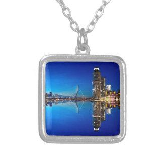 De Horizon van de Nacht van Rotterdam Zilver Vergulden Ketting
