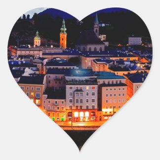 De Horizon van de Nacht van Salzburg Hart Sticker