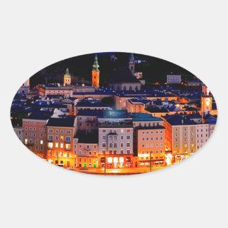 De Horizon van de Nacht van Salzburg Ovale Sticker