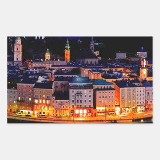 De Horizon van de Nacht van Salzburg Rechthoekige Sticker