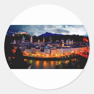 De Horizon van de Nacht van Salzburg Ronde Sticker