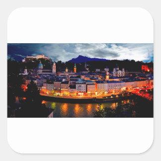 De Horizon van de Nacht van Salzburg Vierkante Sticker