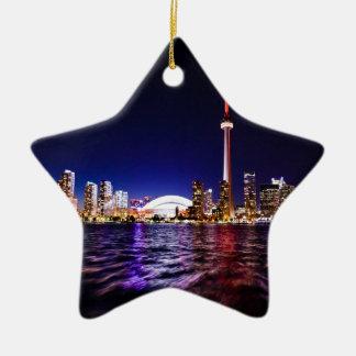 De Horizon van de Nacht van Toronto Keramisch Ster Ornament