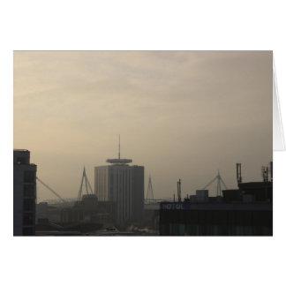 De Horizon van de Stad van Cardiff Briefkaarten 0