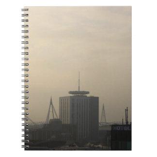 De Horizon van de Stad van Cardiff Ringband Notitieboek