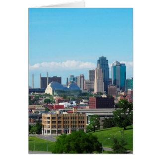 De Horizon van de Stad van Kansas Briefkaarten 0