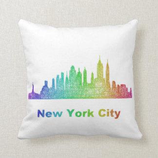 De horizon van de Stad van New York van de Sierkussen