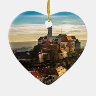 De Horizon van de Tsjechische Republiek Keramisch Hart Ornament