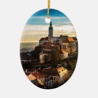 De Horizon van de Tsjechische Republiek Keramisch Ovaal Ornament
