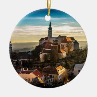 De Horizon van de Tsjechische Republiek Rond Keramisch Ornament