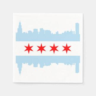 De Horizon van de Vlag van Chicago Papieren Servet