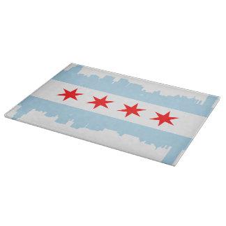 De Horizon van de Vlag van Chicago Snijplank