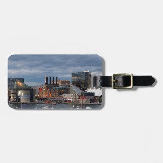 De Horizon van de Zonsondergang van Baltimore Bagagelabel