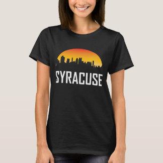 De Horizon van de Zonsondergang van Syracuse New T Shirt
