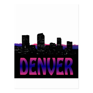 De Horizon van Denver Colorado Briefkaart