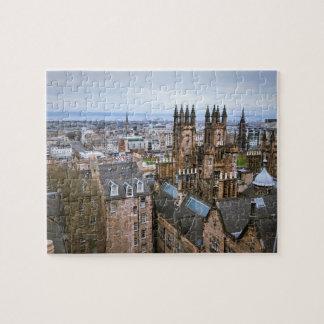De horizon van Edinburgh van dak hoogste, Puzzel