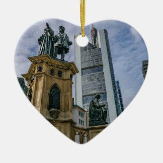 De Horizon van Frankfurt Keramisch Hart Ornament