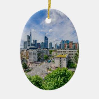 De Horizon van Frankfurt Keramisch Ovaal Ornament