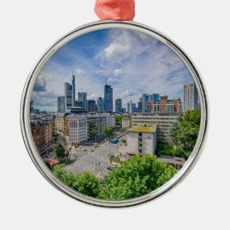 De Horizon van Frankfurt Zilverkleurig Rond Ornament