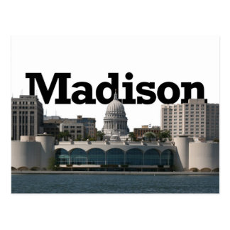 De Horizon van Madison Wisconsin met Madison in de Briefkaart