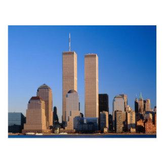 De Horizon van Manhattan en Hudson Rivier, New Briefkaart