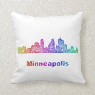 De horizon van Minneapolis van de regenboog Sierkussen